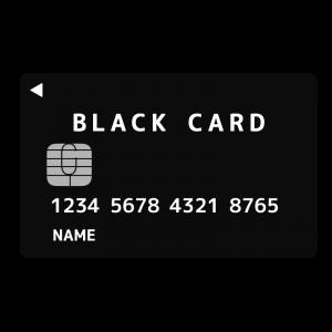 ブラックカードのイラスト アイキャッチ