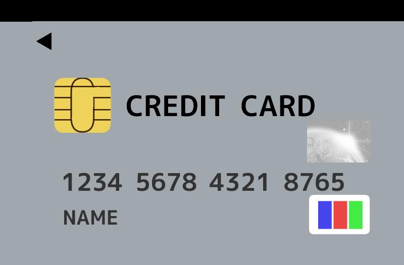 ジェーシービー(JCB)風のクレジットカードのイラスト