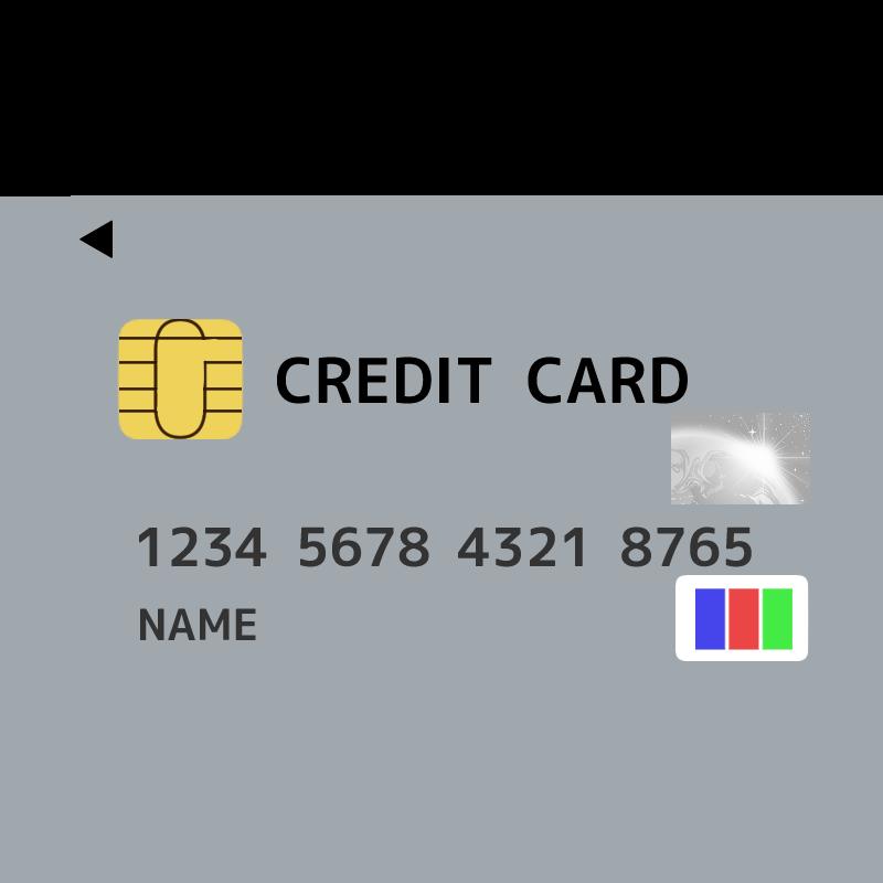 JCB風のクレジットカードのイラスト