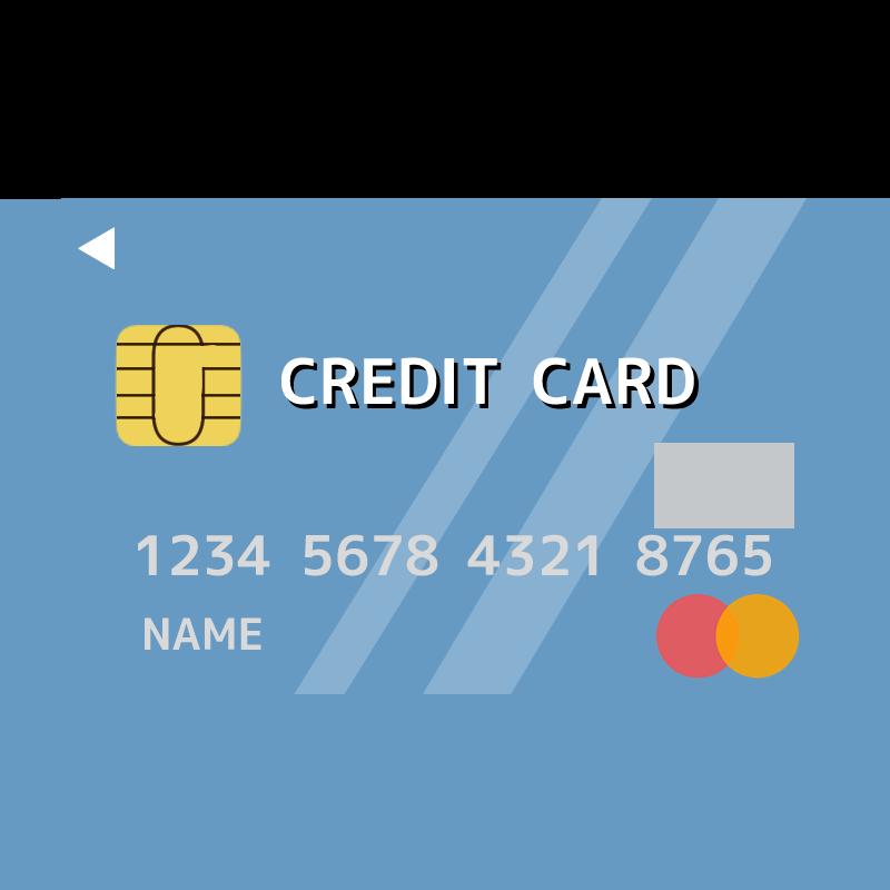 マスターカード(Mastercard)風のクレジットカードイラスト