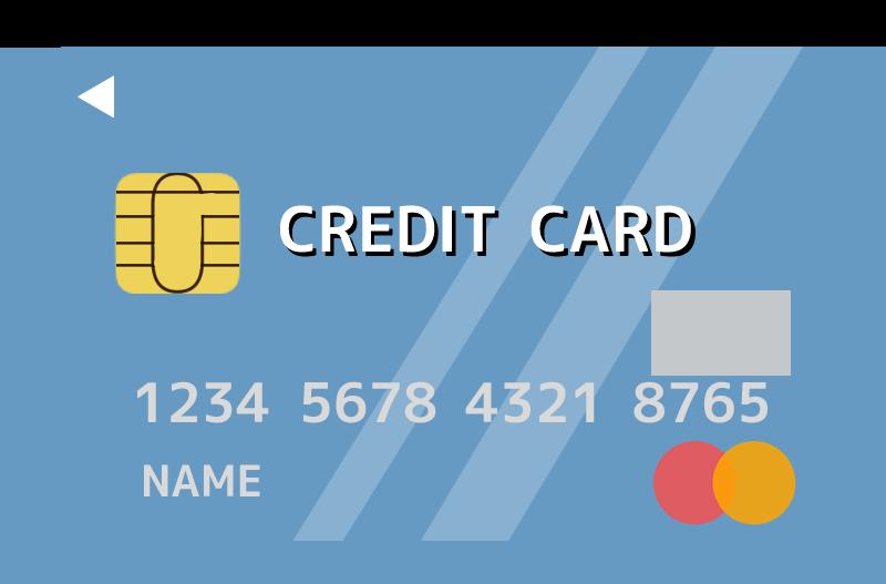 クレジットカード( Master card)風のイラスト