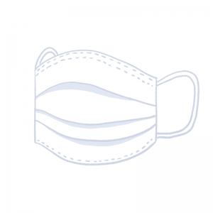 白い使い捨て立体マスク アイキャッチ