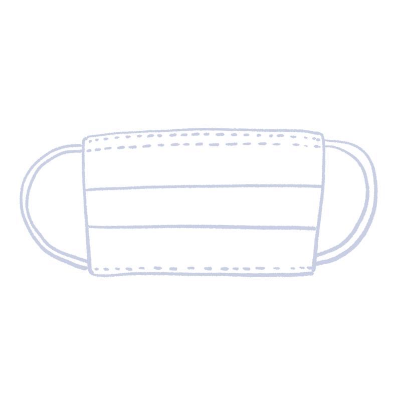 使い捨てマスク(白)のイラスト