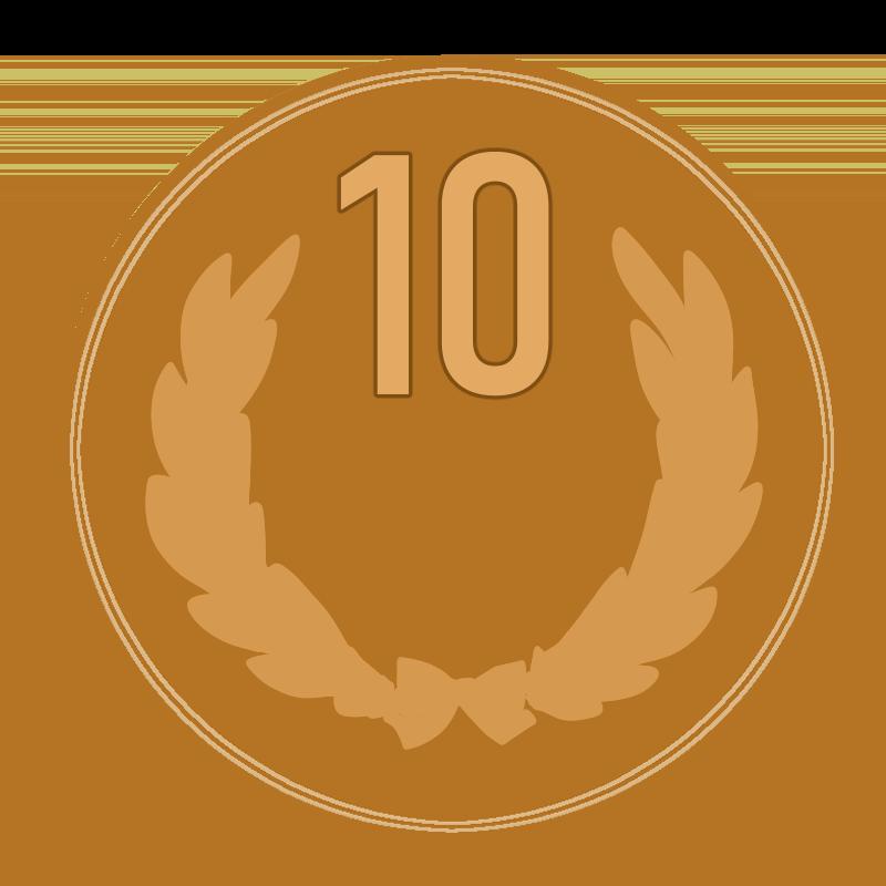 10円玉硬貨のイラスト