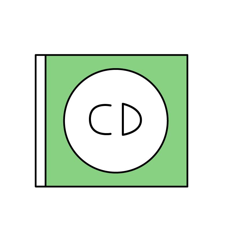 シンプルなCDのイラスト