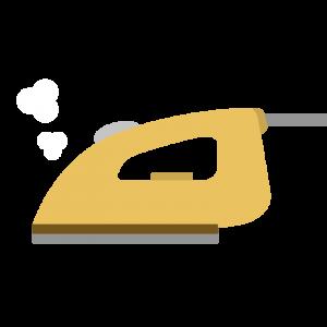 黄色のアイロン