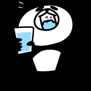 うがいをするパンダのイラスト
