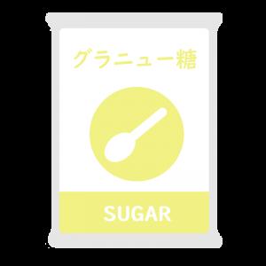 グラニュー糖のイラスト