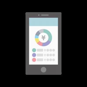 家計簿アプリのイラスト