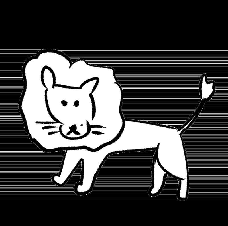 シンプルなライオンのイラスト アイキャッチ