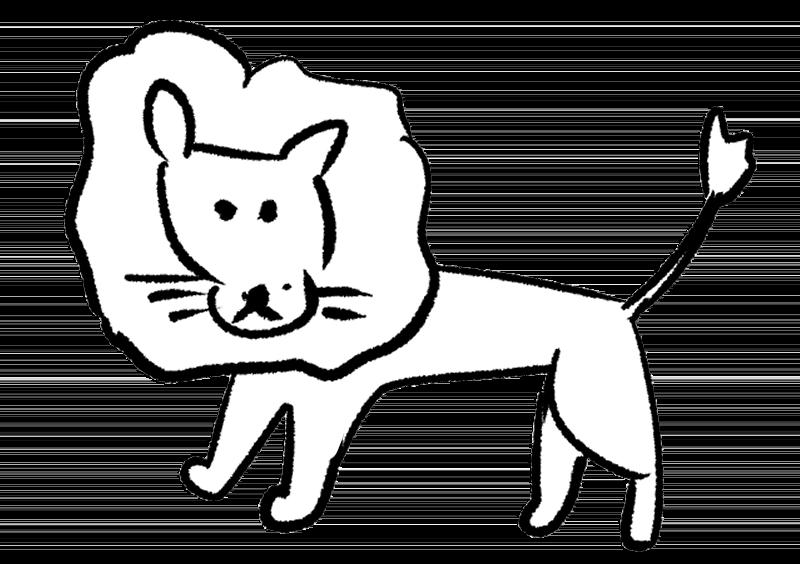 シンプルなオスライオンのイラスト