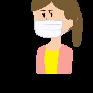 マスクをする女性のイラスト アイキャッチ