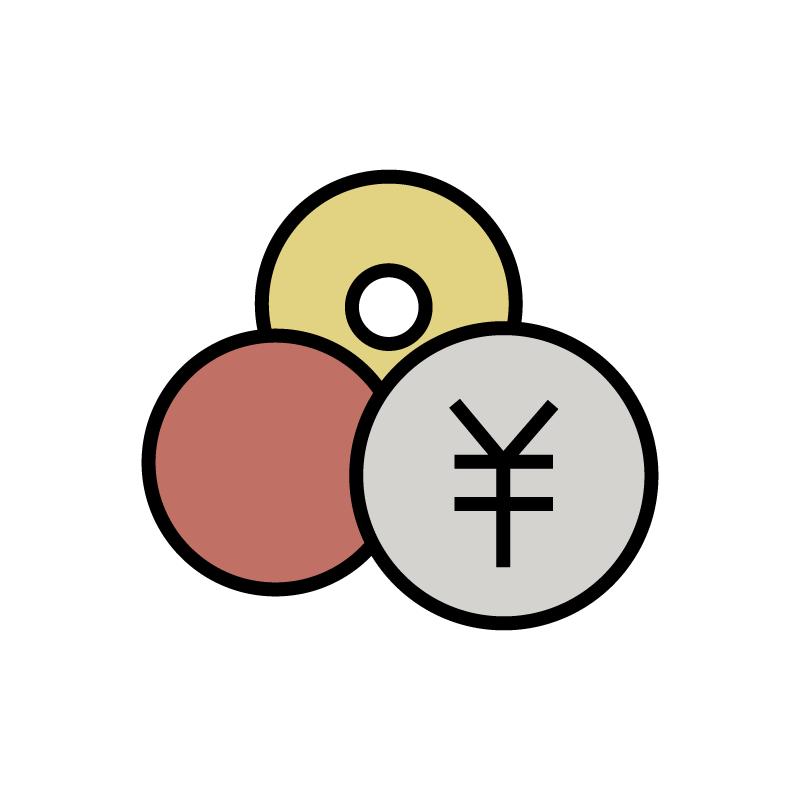 いろいろな小銭のイラスト