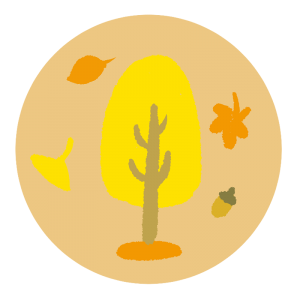 秋をイメージしたイラスト