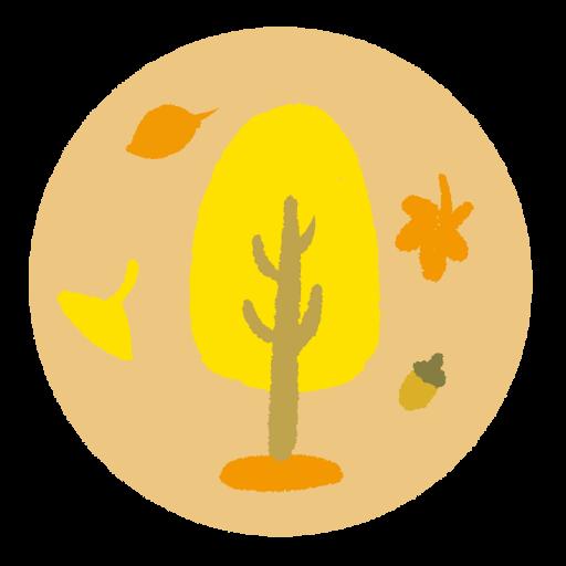 秋の紅葉をイメージしたイラスト