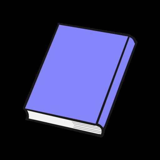 青系のハードカバーの本のイラスト