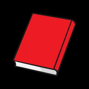 赤いハードカバーの本のイラスト