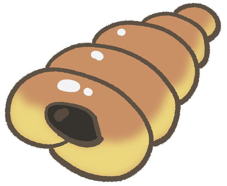 チョココロネのイラスト