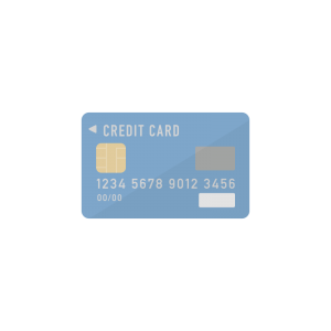 青いクレジットカードのイラスト アイキャッチ