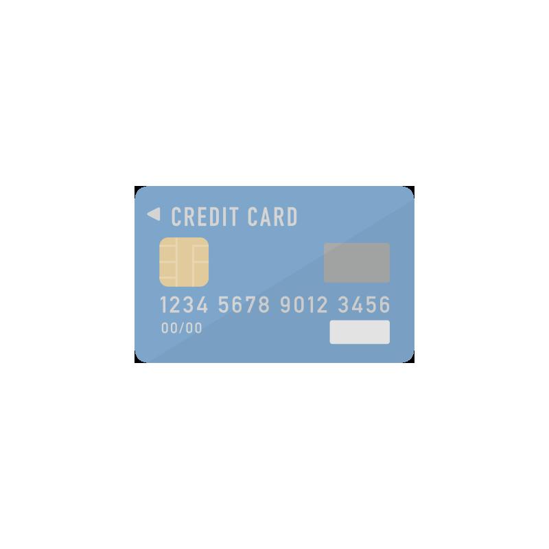 青いクレジットカードのイラスト