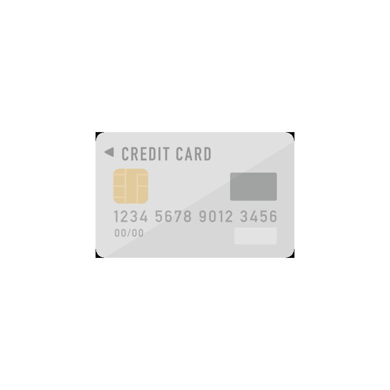 グレーのクレジットカードのイラスト