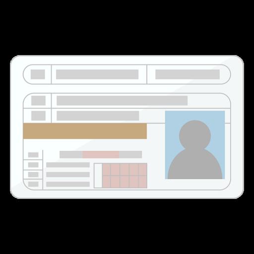 自動車運転免許証のイラスト(フチあり)