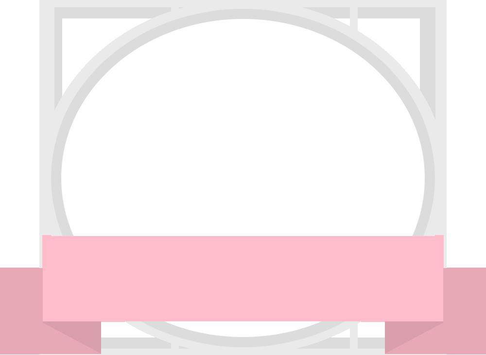 ピンクの丸いリボンフレーム