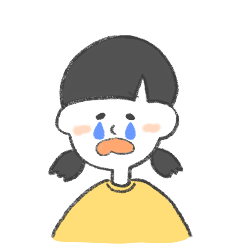 泣いている女の子のイラスト