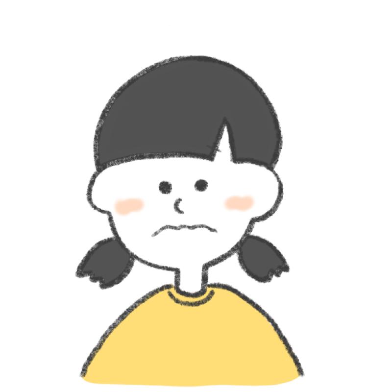 困っている女の子のイラスト
