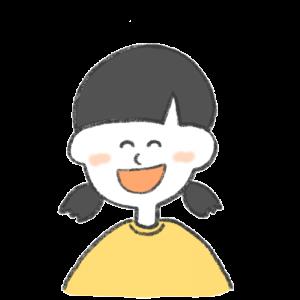 笑っている女の子のイラスト