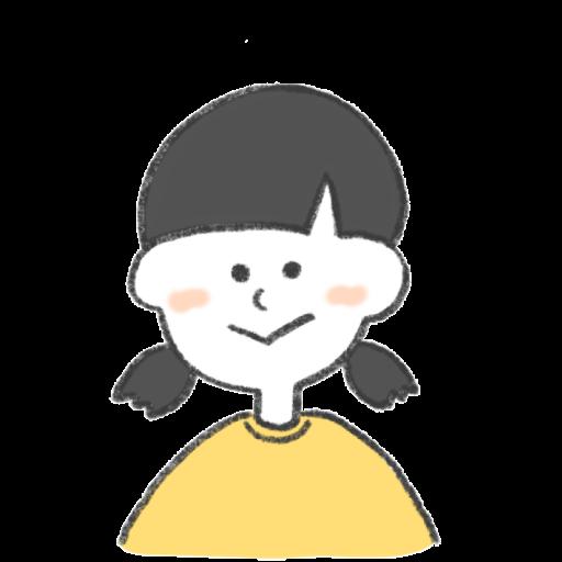 ニッコリとほほえんでいる女の子のイラスト