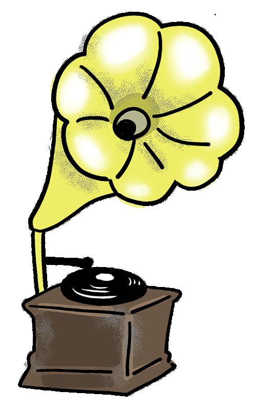 昭和レトロな蓄音機のイラスト