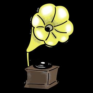 蓄音機のイラスト