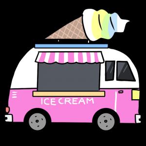 アイスクリームトラックのイラスト