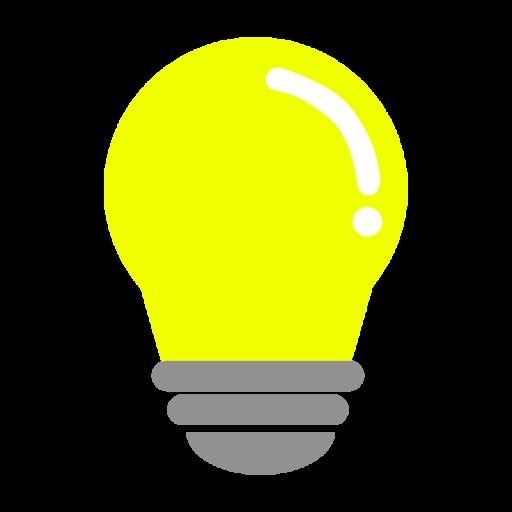 黄色の電球のイラスト