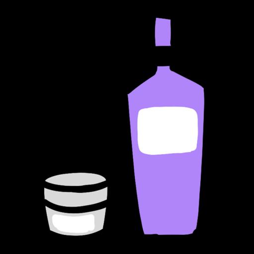 化粧水とクリームのイラスト