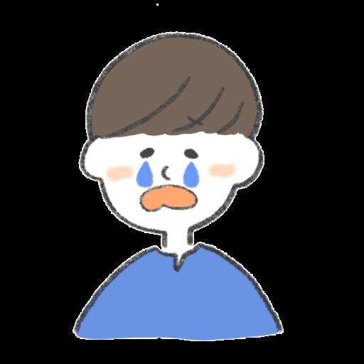 泣いている男性のイラスト