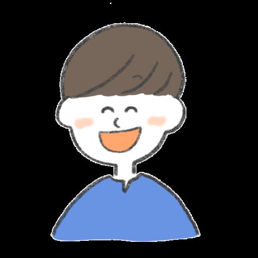 笑っている男性のイラスト