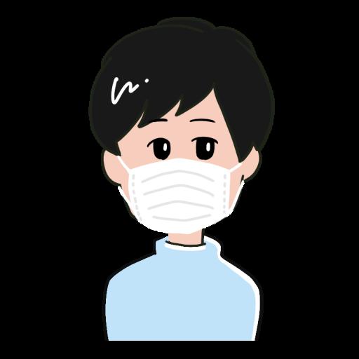 マスクをした男性のイラスト