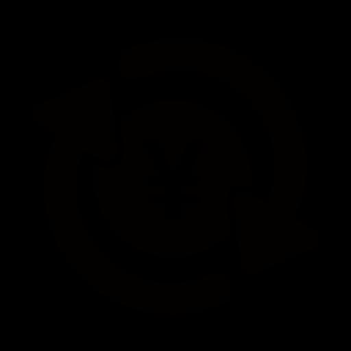 黒色の自動積立・投資のマークのイラスト
