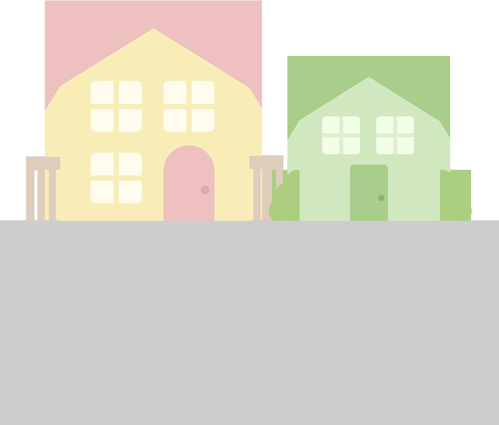 住宅街のイラスト