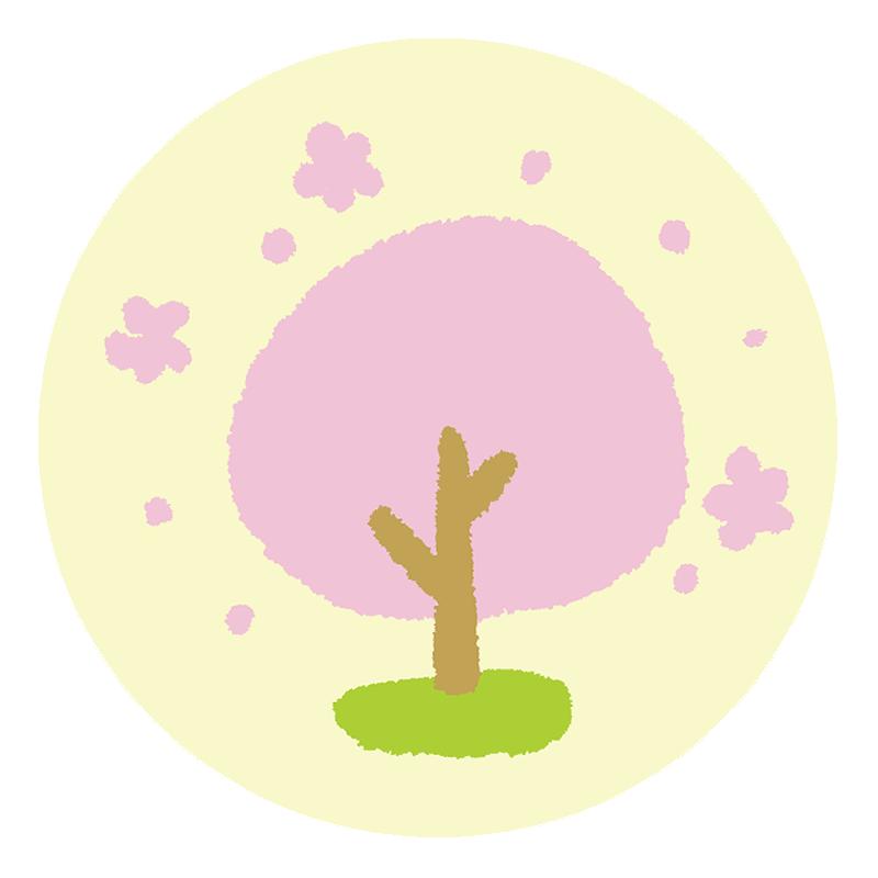 桜が満開な春をイメージしたイラスト