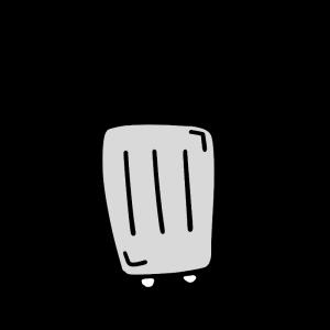 シルバーのスーツケースのイラスト