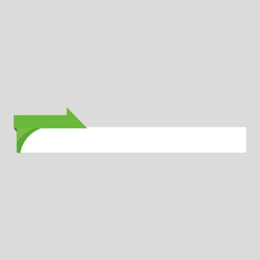 緑色のニュース風のボトムテロップのイラスト