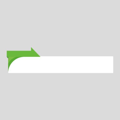 緑色のニュース風の縦長ボトムテロップのイラスト