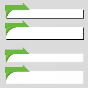 緑色のニュース風のボトムテロップセットのイラスト素材