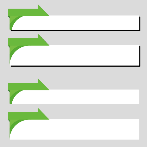 緑色のニュース風のボトムテロップセットのイラスト