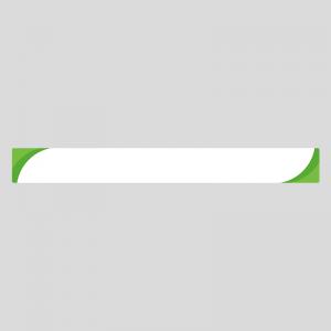 緑色のシンプルなボトムテロップのイラスト素材