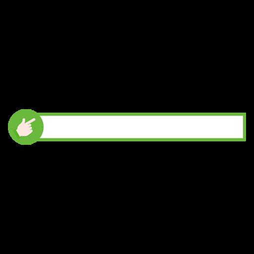 緑色のチェックアイコンのボトムテロップのイラスト