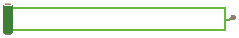 緑色の巻物風のボトムテロップのイラスト素材